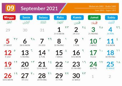 Kalender 2021  September