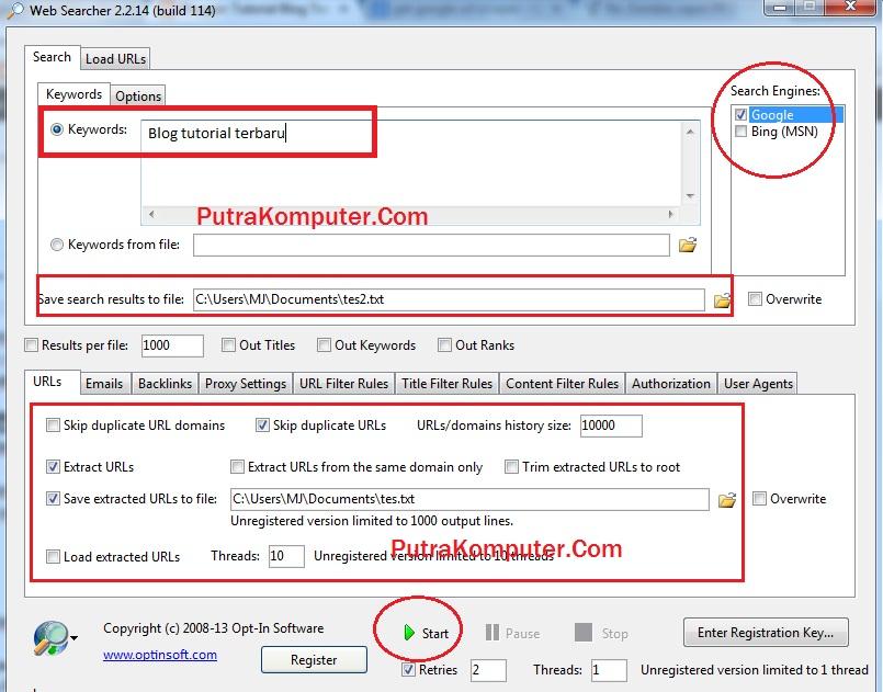 Url Scraper : Cara Mengcopy Link Hasil Pencarian Google dan Bing