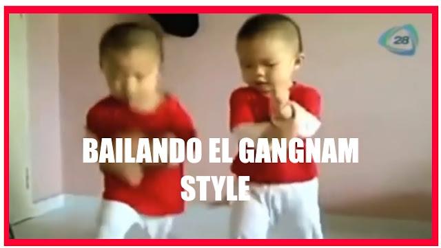 Bebes bailan el gangnam style