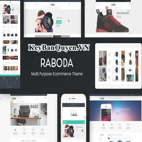 Theme bản quyền Raboda - eCommerce Responsive WordPress Theme.