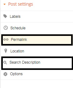 how to set SEO on google blog in english