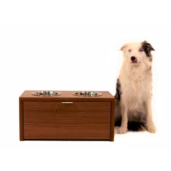 Modern Custom Handcrafted Wood Dog Feeders And Food Storage By Eastvold.    If Itu0027s Hip, Itu0027s Here