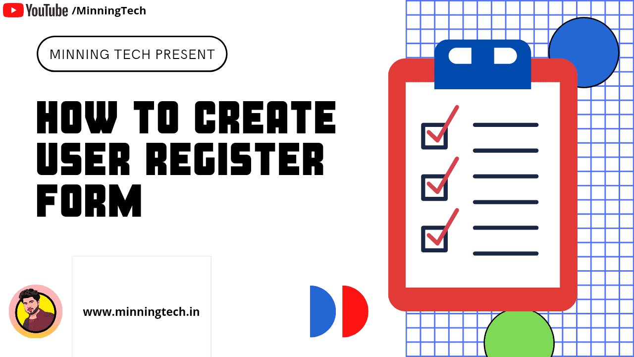 How to create User Register Form Using HTML and CSS