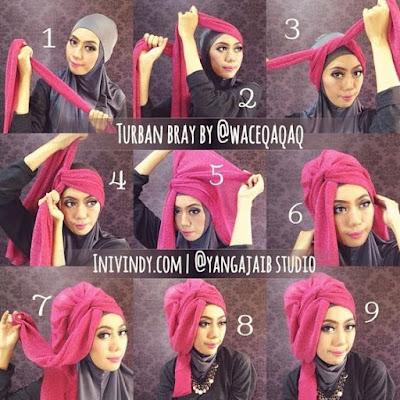Tutorial Hijab Turban Pashmina Modern Gaya #23 Chic Side Cool Drappery