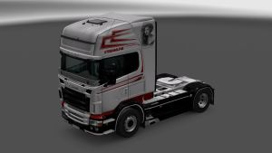 Scania RJL Grey Streamline Skin