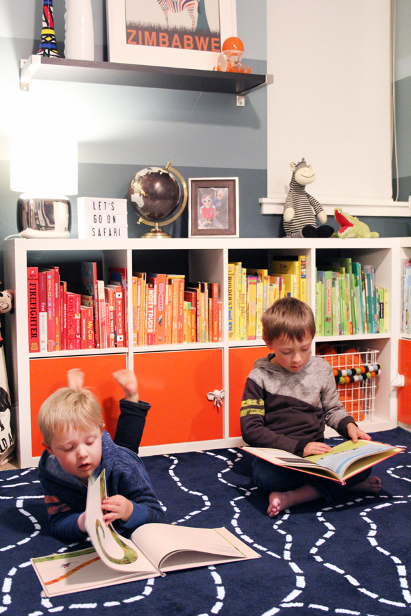Give kids soft surfaces for reading