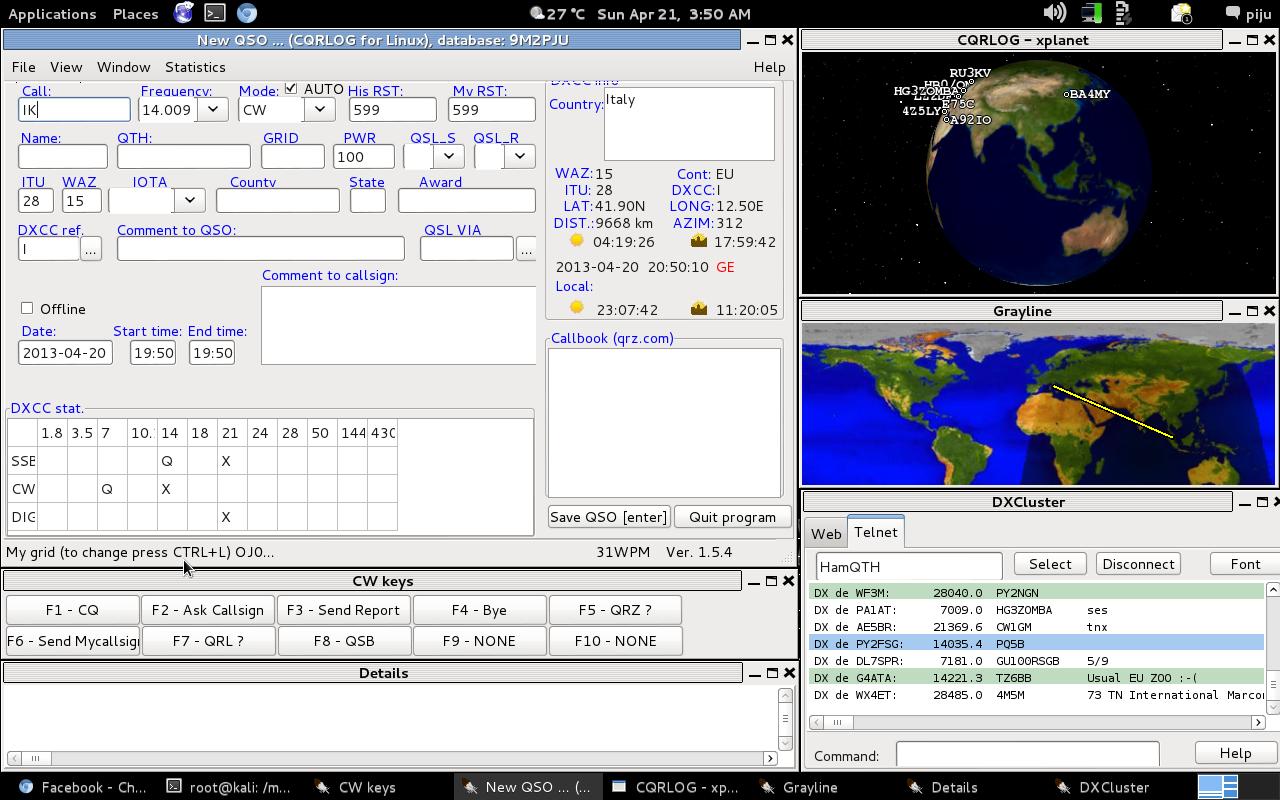 9M2PJU: The Best Amateur Radio Logging App For Linux