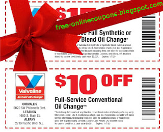 Free Printable Valvoline Instant Oil Change Coupons