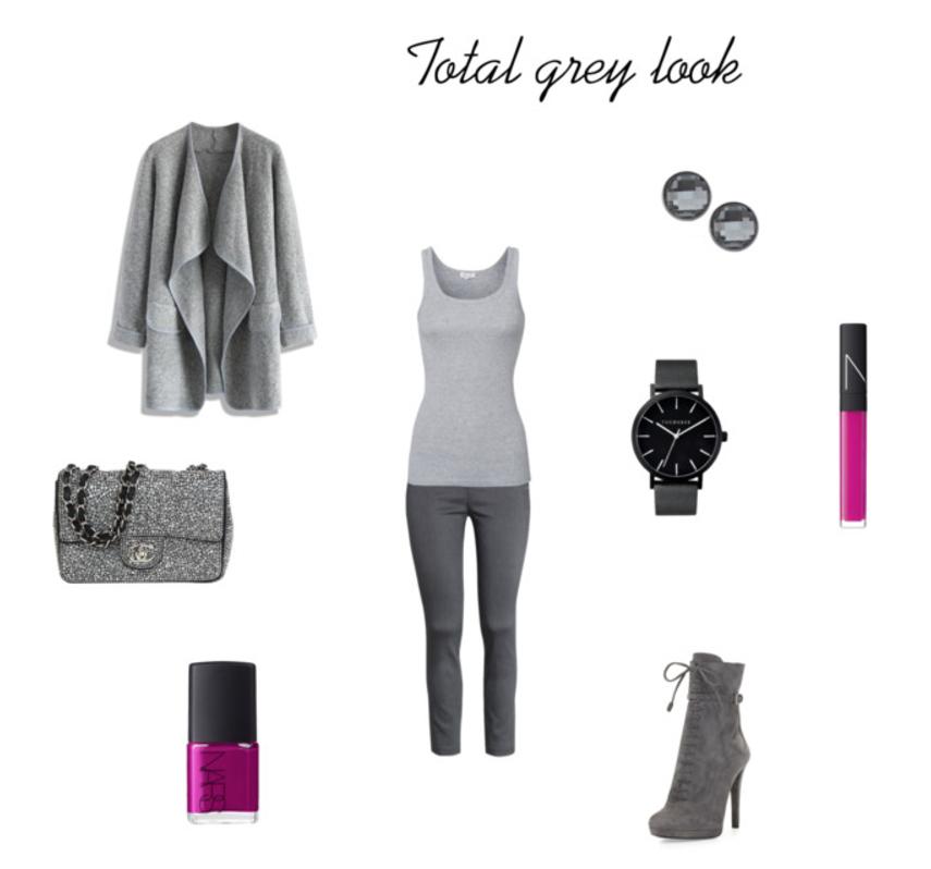 Total grey look - jesienna stylizacja w odcieniach szarości, blog modowy, polska blogerka, porady modowe