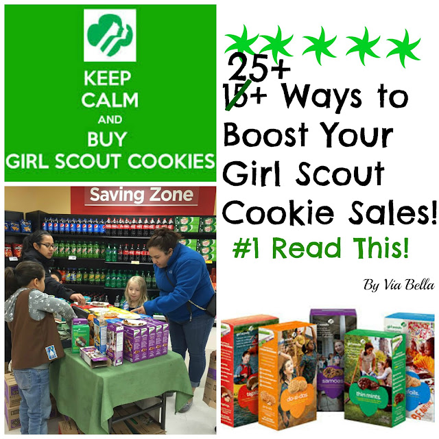 Girl Scouts, How to Sell Girl Scout Cookies, Girl Scout Cookies, Troop 5823, Via Bella,