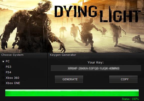 dying light keygen