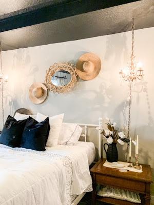 Black bedroom ceiling