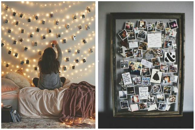 10 Ide Kreasi Hiasan Dinding Kamar dari Kumpulan Foto, Keren!