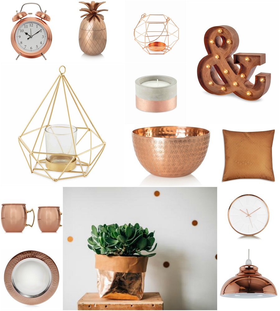 35 copper gold home decor trending copper rose gold home for Home decor and accents