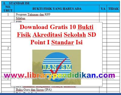 10 Bukti Fisik Akreditasi Sekolah SD Point I Standar Isi, http://www.librarypendidikan.com/