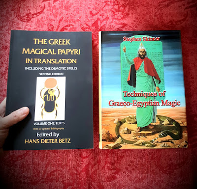 The Greek Magical Papyri. by Hans Dieter Betz. Techniques of Graeco-Egyptian Magic. by Stephen Skinner
