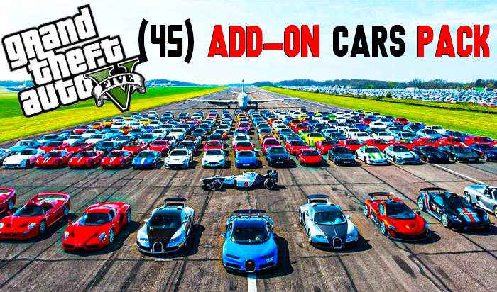 GTA V New 2021 (45) Add-On Cars Pack Download   Vehicles Pack GTA 5 Mods