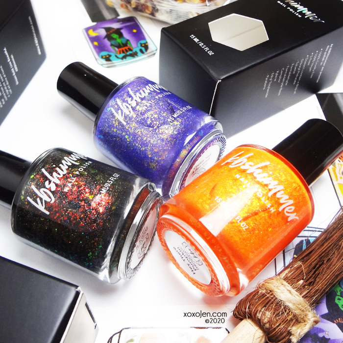 xoxoJen's swatch of KBShimmer Halloween Trio