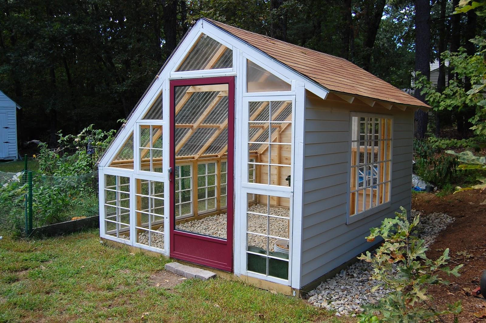 Custom Backyard Greenhouse With Recycled Windows December