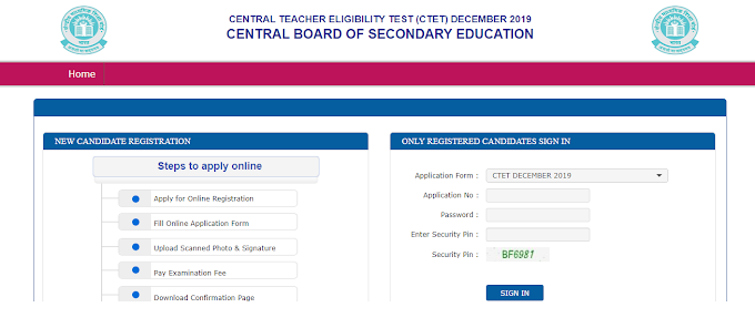 CTET- CENTRAL TEACHER ELIGIBILITY TEST 2019 Apply Online And Official Notification PDF Download
