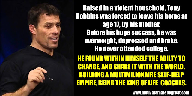 63 Successful People Who Failed: Tony Robbins, Success Story, King of Life Coaches, Self-Help Empire, Violent Household, Overweight, depressed, broke