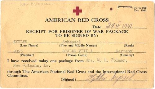 24 April 1941 worldwartwo.filminspector.com Red Cross receipt