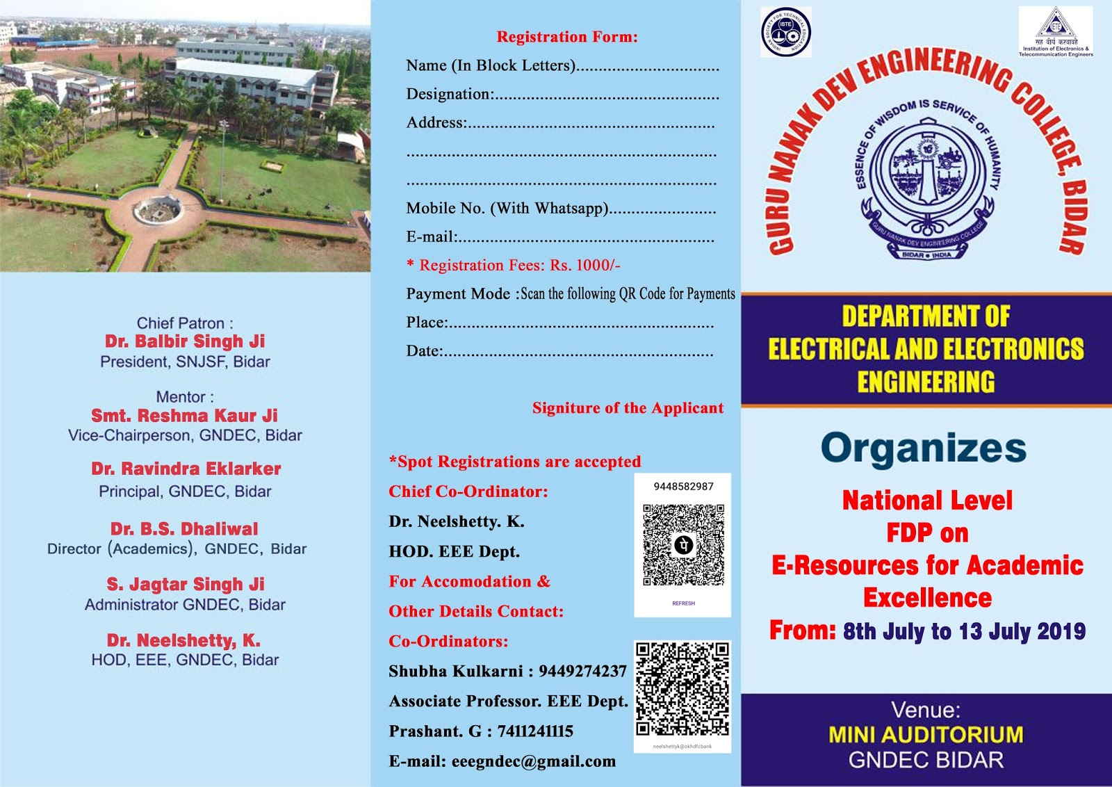 National Level FDP on E-Resources for Academic Excellence