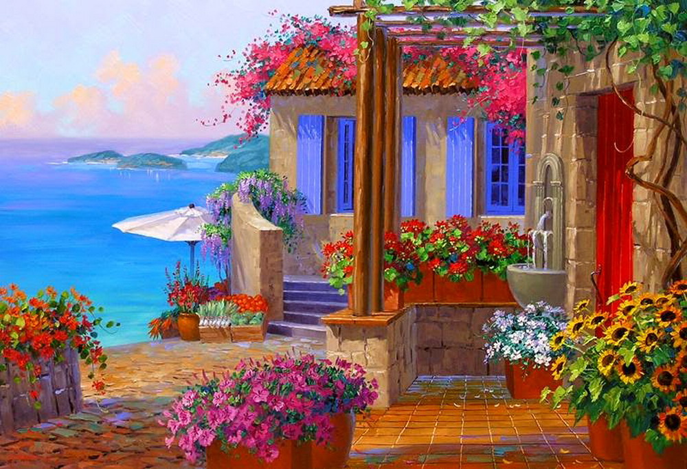 Im genes arte pinturas pinturas paisajes colores llamativos mikki senkarik for Colores de pinturas para casas 2016