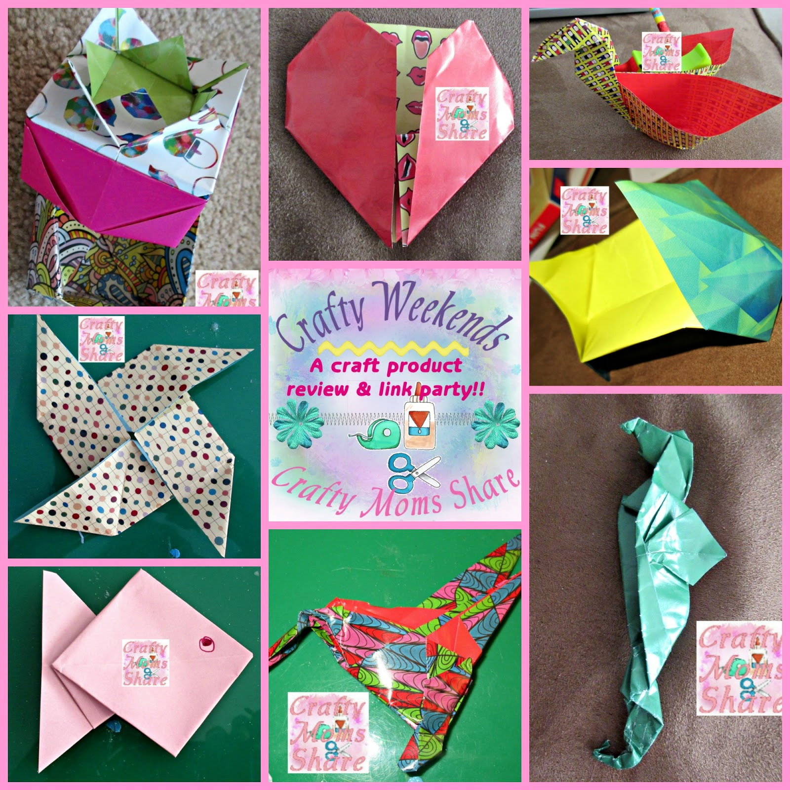 Crafty moms share origami fun a crafty weekends review link i have some great kits and books for you today for different levels of origami makers from beginner to master look at some of the fun things i made with jeuxipadfo Choice Image