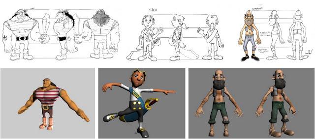 Creando los personajes del juego