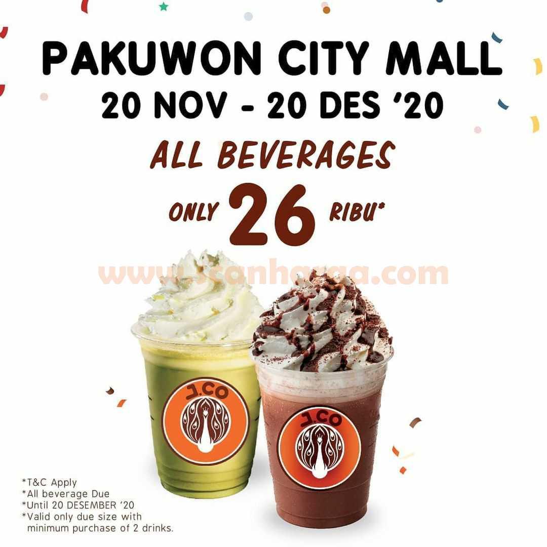 JCO Pakuwon City Mall Opening Promo Semua Minuman hanya 26Rb