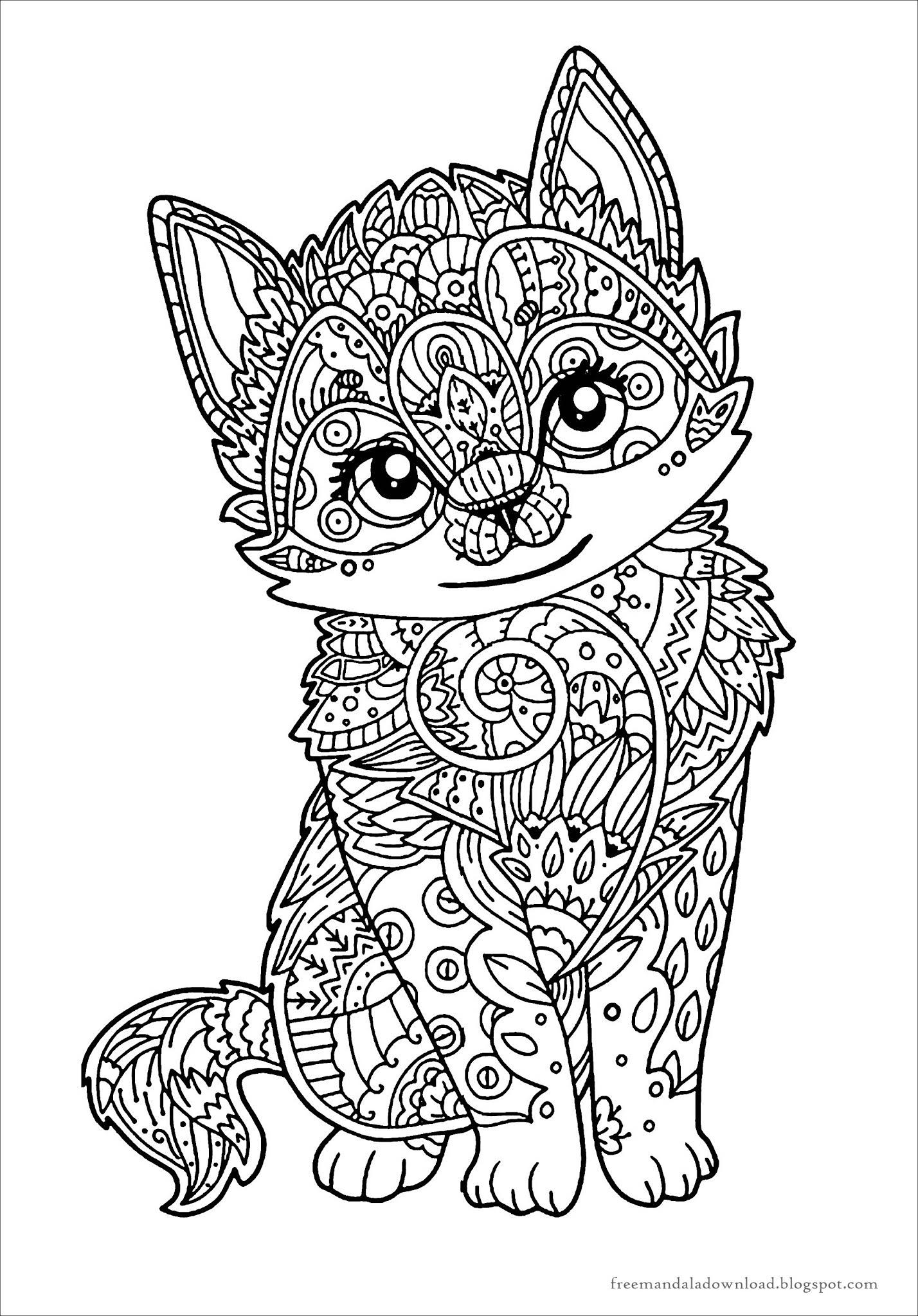 katzen mandala malbuch pdfcats mandala coloring book pdf