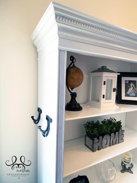 Shabby Chic Hallway Coat Closet with Bookshelves and Deep Dovetail Drawers