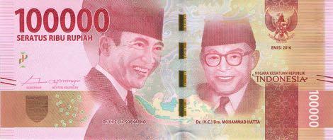 uang baru 100 ribu rupiah 2016 depan