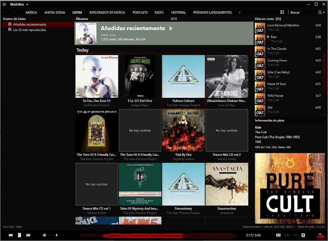 MusicBee 3.2.6902 | Busca, organiza y reproduce los archivos de música de tu ordenador