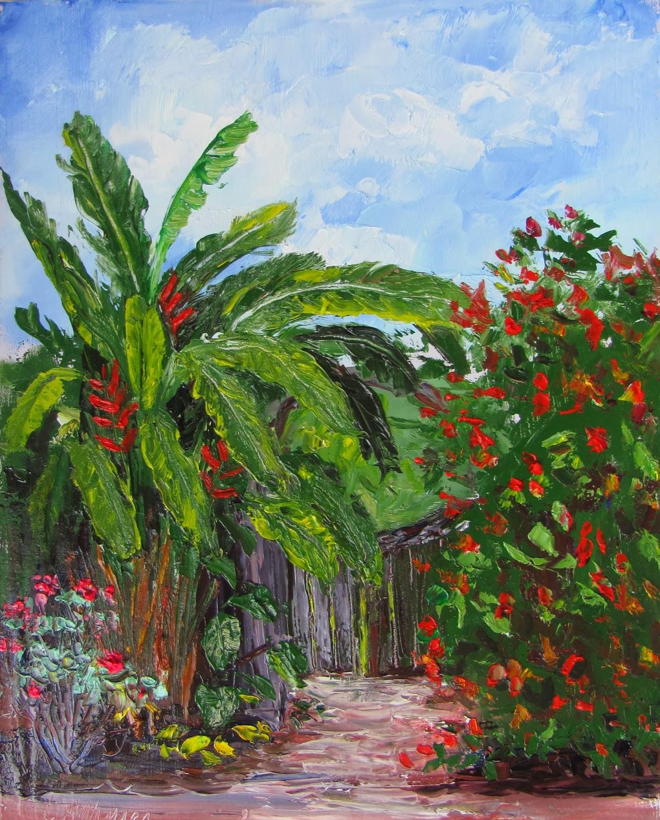 Heathcote Botanical Gardens: Lori's Stormy Art And Daily Paintings: 1529 SOLD Heathcote
