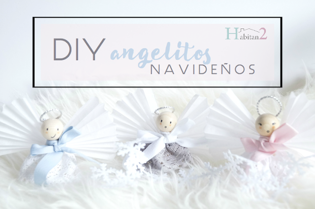 Diy angelitos navideños de madera / low cost / christmas handmade by Habitan2