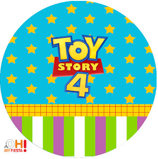 Toy Story 4 Con Forky: Wrappers y Toppers para Cupcakes para Imprimir Gratis.
