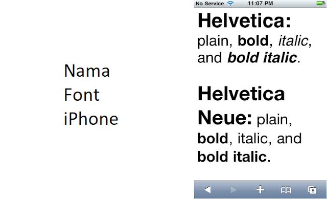 nama font iphone untuk android