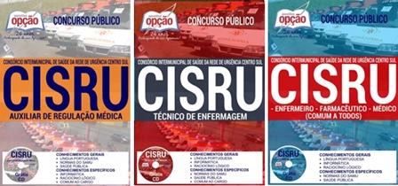 Apostila concurso CISRU MG 2017 -  Diversos Cargos