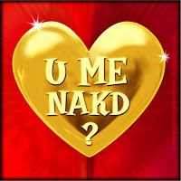 'U me nakd' text on gold heart free image for texting