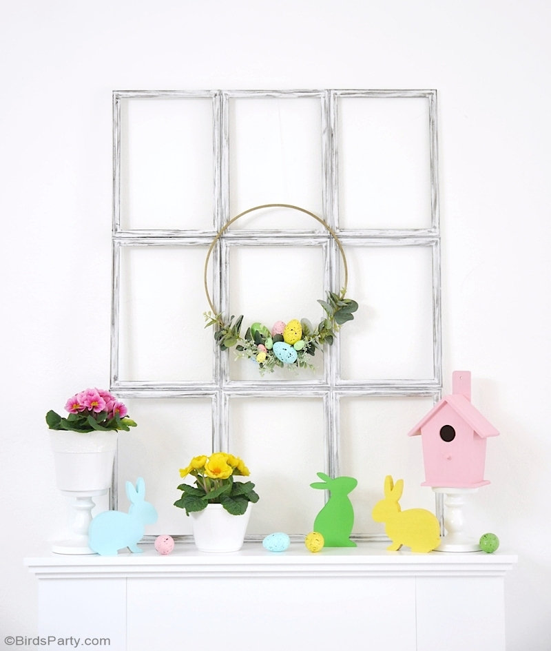 Décoration de Pâques DIY Couleurs Pastels - projets simple et rapides pour un joli décor printanier moderne et en couleurs pastels! by BirdsParty.com @birdsparty #paques #decoration #decorpaques #diypaques #printemps