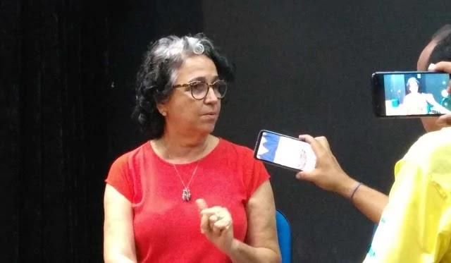 A coordenadora das Policlínicas Regionais de Saúde da Bahia, Joana Molesini, as jornalistas Regina Ferreira e Cristina Villarino, da Secretaria de Comunicação Social do Governo da Bahia (Secom)