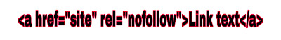No-follow backlinks
