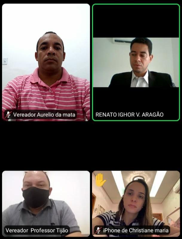 MATÕES - Vereadores oposicionistas realizam vídeo conferência com promotor de Justiça para denunciar omissão do prefeito no combate ao Covid-19