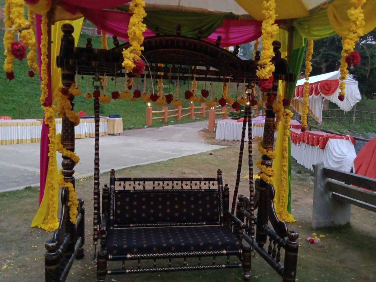 Unjal Decoration For Bhramin wedding