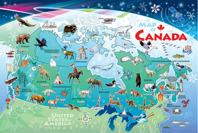 Map of Canada Floor Puzzle from Cobble Hill Puzzles