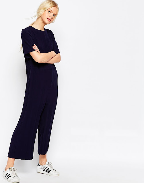 black t-shirt jumpsuit, t-shirt cropped leg jumpsuit,