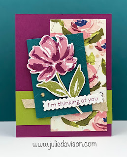 Stampin' Up! Fine Art Floral: Art Gallery Thinking of You Card ~ www.juliedavison.com #stampinup