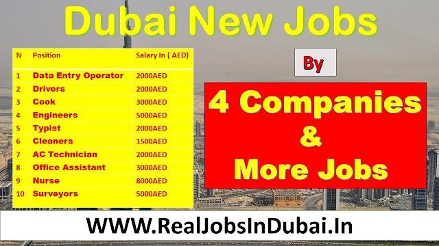 Jobs In Dubai By 4 Companies & More Latest Jobs 2021